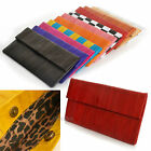 Stylish Genuine EEL Skin Leather Clutch Evening Bag Wallet Women Lady Handbag