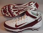 "Nike ""Air Zoom 3 TD Superbad"" Men's Maroon Molded Football Cleats NEW Sz 16"