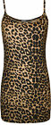 New Womens Leopard Animal Print Ladies Strappy Sleeveless Vest Cami Top 8 - 14