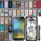 For Samsung Galaxy E5 E500 SLIM FIT PATTERN HARD Case Back Phone Cover + Pen