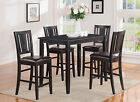 Buckland 5 Pieces table set-counter height table and 4 kitchen counter chairs