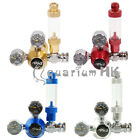 Aquarium Dual Gauge CO2 Regulator Bubble Counter Check Valve for Plant Tank