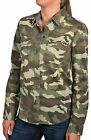 Vans Women's Frena Woven Camo Log Sleeve Button Down Shirt-Camo