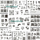 XJ1-10 Designs DIY Nail Art Image Stamp Stamping Plates Manicure Template #094V