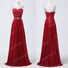 Ladies Women Polyester Long Maxi Evening Dress Ball Gown Prom Formal Homecoming