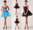 2015 Sweetheart Sequins MINI Gown Evening Bridesmaid Cocktail Short Prom Dresses