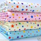 "per half metre multicoloured stars  polycotton fabric 44"" wide 112cm"