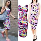New Womens Ladies Celebrity Inspired Sexy Michelle Keegan Midi Dress Size 8 10 L