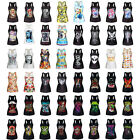 sto Womens Girls Summer 3D Print Cute Cool Pattern Casual Base Tank Vest Top