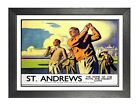 St Andrews 2 Railway Old Adver Poster Golf Player Men Photo  Fife Scotland Print