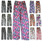 Womens Ladies  Printed Palazzo Trousers Summer Loose Fit Baggy Pants Size 8-26