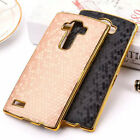 Luxury Gold Frame Football pattern PU Leather  Case Hard Back Cover For LG G4