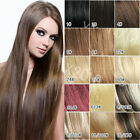NEW  TOP clip in100% real remy human hair extensions black brown blonde red hot