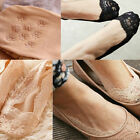 Women Cotton Lace Nonslip Invisible Low Cut Stretch No Show Peds Boat Socks
