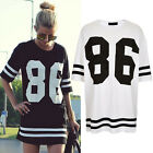 Plus Size Summer Fashion Women's Short Sleeve Tee Shirt Casual Loose White Black