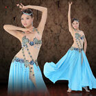 New Professional Performance Belly Dance Costume Luxury Mesh one-piece Dress M/L