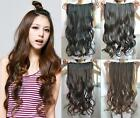 """Fashion 4 Colors 24"""" Long Synthetic Curly Women One Piece Clip in Hair Extension"""