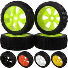 4PCS RC 1/8 OFF-ROAD BUGGY 17MM HEX Wheel Rim & Tyre Tires 82-801 For HSP RedCat