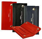 3 Color Soft Pu Leather Fully Lined Tobacco Pouch With Pocket