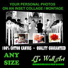 Your Personal Photos Pictures on a canvas INSET collage / Montage  - ANY SIZE