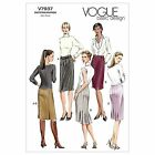 Vogue 7937 Petite Skirt Princess Seams Back Pleats Sewing Pattern V7937 4 in 1!