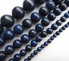 "Lapis Lazuli round gemstone beads. Approx 7.5"" strand Choose size 4mm-12mm SP92"