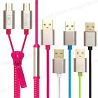 High Speed 2-in-1 Splitter Dual Micro USB 2.0 Data Sync Charging Zipper Cable