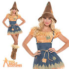 Adult Sultry Scarecrow Costume Sexy Ladies Fancy Dress Outfit New UK 8-20
