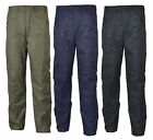 Mens Semi Elasticated Fleece Lined Outdoor Breathable Waterproof Trousers