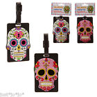 Day Of The Dead Luggage Tag PVC Funky Novelty Skull Rubber Label (358)
