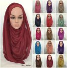 *MAXI VISCOSE* Long Wide Plain Scarf/Hijab Shawl/ Wrap Unstitched 182 x 85cm