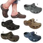 New Mens Boys Fitness Sport Hospital Velcro Strap Clogs Sandals Shoes Size UK