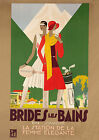 Brides  les Bains, France - repro vintage travel poster A1, A2, A3 or A4