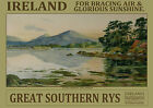 Ireland Glencarriff, Killarney -  repro vintage railway travel poster in 4 sizes