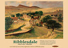 Ribblesdale NW Yorkshire -  repro vintage railway travel poster in 4 sizes