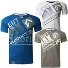 Mens Max Edition V Neck Graphic Slice Print Short Sleeve Cotton T-Shirt Size