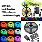 3528/5050 RGB LED Roll Strip Tape Light 5M Waterproof RGB SMD COLOUR CHANGE +PSU