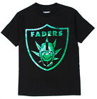 Famous stars & straps Faders Graphic Print t-shirt in black & green *BNWT*