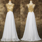 GK LACE BEADED Long Prom Dresses Evening Gown Party Bridesmaid Dress PLUS SIZE