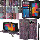 For Samsung Galaxy Avant G386T Flip Wallet LEATHER POUCH Case Phone Cover + Pen