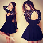Sexy Summer Casual Sleeveless Party Evening  Long Sleeve Cocktail Short Dresses