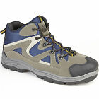 NEW DEK WINDERMERE MENS MID ANKLE TREK AND TRAIL LACE UP GREY NAVY TRAINER BOOTS