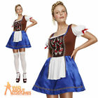 Dirndl Costume Sexy Oktoberfest Fancy Dress Ladies Beer Outfit UK 4-18