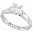 925 Silver Ladies Wedding Engagement Princess Cut Bridal Ring