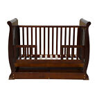 Brand New 3in1 Wooden Baby Cot Crib Toddler Bed Pine Wood (White/Brown)