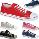 LADIES SKATER WOMENS TRAINERS FLAT RUNNING PLIMSOLLS SCHOOL GYM PUMPS SHOES SIZE