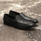 NEW Mens Prada Black Leather Heel Shoes Casual Slip On Loafers GENUINE RRP £410