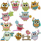 * SEWING OWLS * Machine Applique Embroidery Patterns *12 Designs in 3 sizes