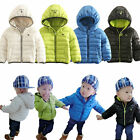 Baby Jacket Coat, Padded Cotton Zip Up Hoods Outerwear NEW 6M 12M 18M 24M 2Y 3Y