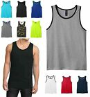 MEN'S LIGHTWEIGHT, PRESHRUNK COTTON,  RINGER TANK TOP, MUSCLE, S M L XL 2X 3X 4X